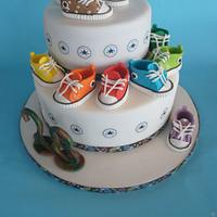 fashion all star converse cakes