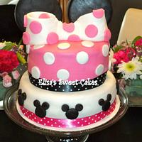Minnie Mouse Cake! by Elisa's Sweet Cakes