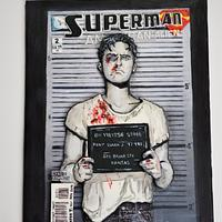 Superman Comic Book Cover - Cake Con International collaboration