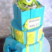 Monster's Inc baby shower cake