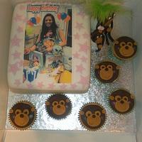 Monkey birthday cake.  by Kerry