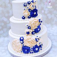 Royal Blue & White Wedding