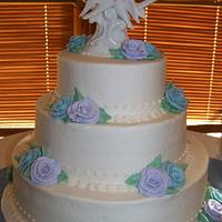 Buttercream Rose Wedding Cake