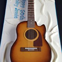 3D Guitar cake