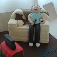Man on Sofa Cake