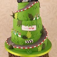 Cadwell Park Race Track Motorbike Wedding Cake
