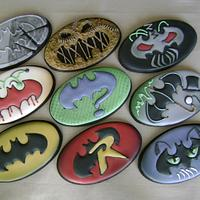 Batman Friend And Foe Logos Cookie Set