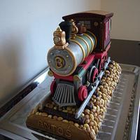 Locomotive cake by Bożena