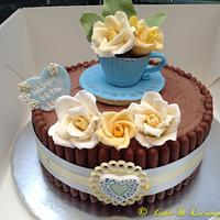 Cadburys chocolate finger 50th birthday cake