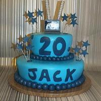 laptop topped cake