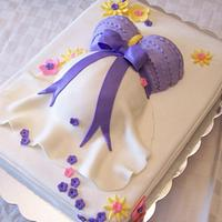 Lavender Baby Belly Cake