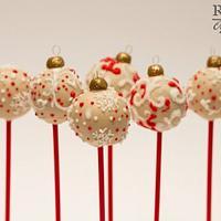 Christmas balls - cake pops