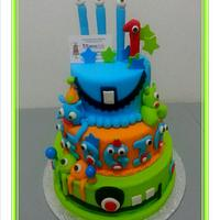 Little Monsters cake by Reposarte Ramos