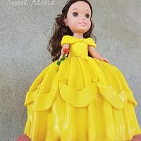 Toddler Princess Cake (Belle)