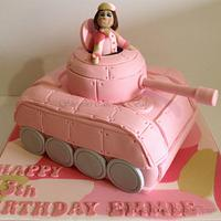 Girl Army Tank Cake