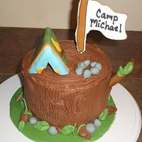 Tree Stump Birthday Cake