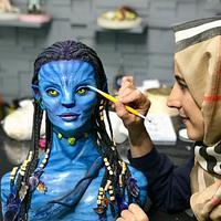 Avatar Bust Cake by Tuba Geçkil