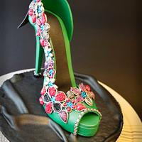 Bridal Shoe by The Cakes Icing