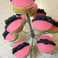 Bow Cupcakes by Lydia Evans