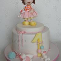 1st girl's birthday cake