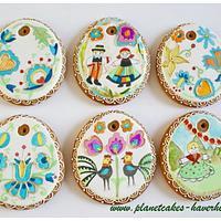 Polish Folk Easter Egg Cookies