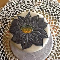 Very first attempt to paint on fondant