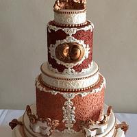 Sun & Moon Baroque Wedding Cake
