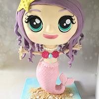 Chibi Style Mermaid Cake