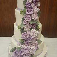 purple roses cascade