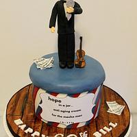 Vanity and Violin cake