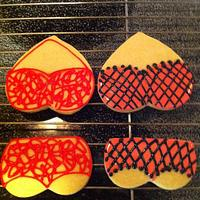 Lingerie cookies by Jen Scott