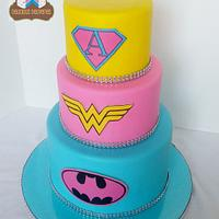 Girl Power! Superhero Cake