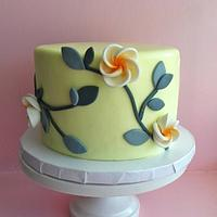 Little yellow floral cake