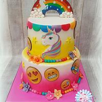 Unicorn Emoticon cake