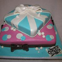 Presents cake by Tiffany Palmer