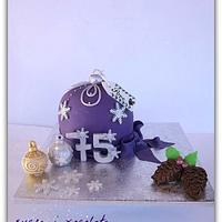 Cake Christmas ball.