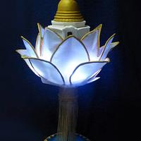 The lotus and the temple - Festival of Vesak Cake Collaboration