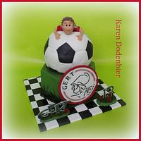 Another Ajax soccer cake!!!