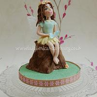 Woodland fairy cake topper