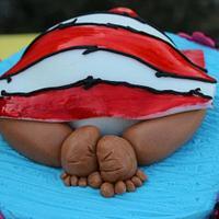 Dr. Seuss Themed Baby Shower Cake