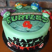 Teenage Mutant Ninja Turtles Cake and Cookies by Pam and Nina's Crafty Cakes