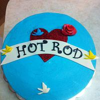 Tattoo inspired cake