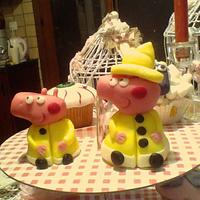Peppa and George Firefighters toppers