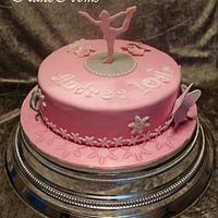 Figure skater cake
