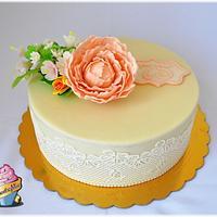 cakes with peony