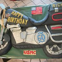 Motorcycle cake by Enchanted Cakes on FB