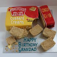 Custard Cream Birthday Cake!
