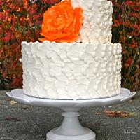 Buttercream with orange peony