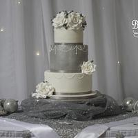 Silver and White Winter Wedding