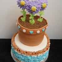 Flower pot and ruffles